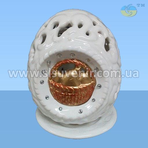 декор сувенир яйцо с корзиной